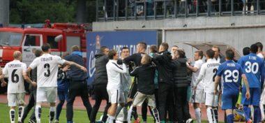 Скандал: Зозуля затеял драку с футболистами «Зари» и судьями [видео, фото]