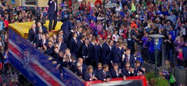 Национальные герои: как сборную Исландии встретили дома после «Евро-2016» [видео, фото]